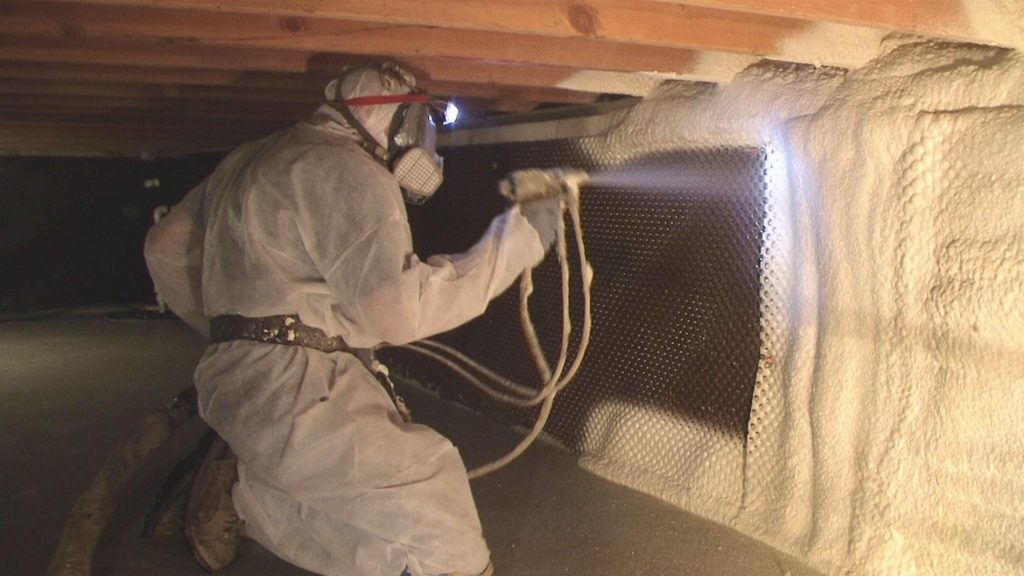 spray foam crawl space